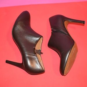 Seneca Chestnut Glazed Leather Booties